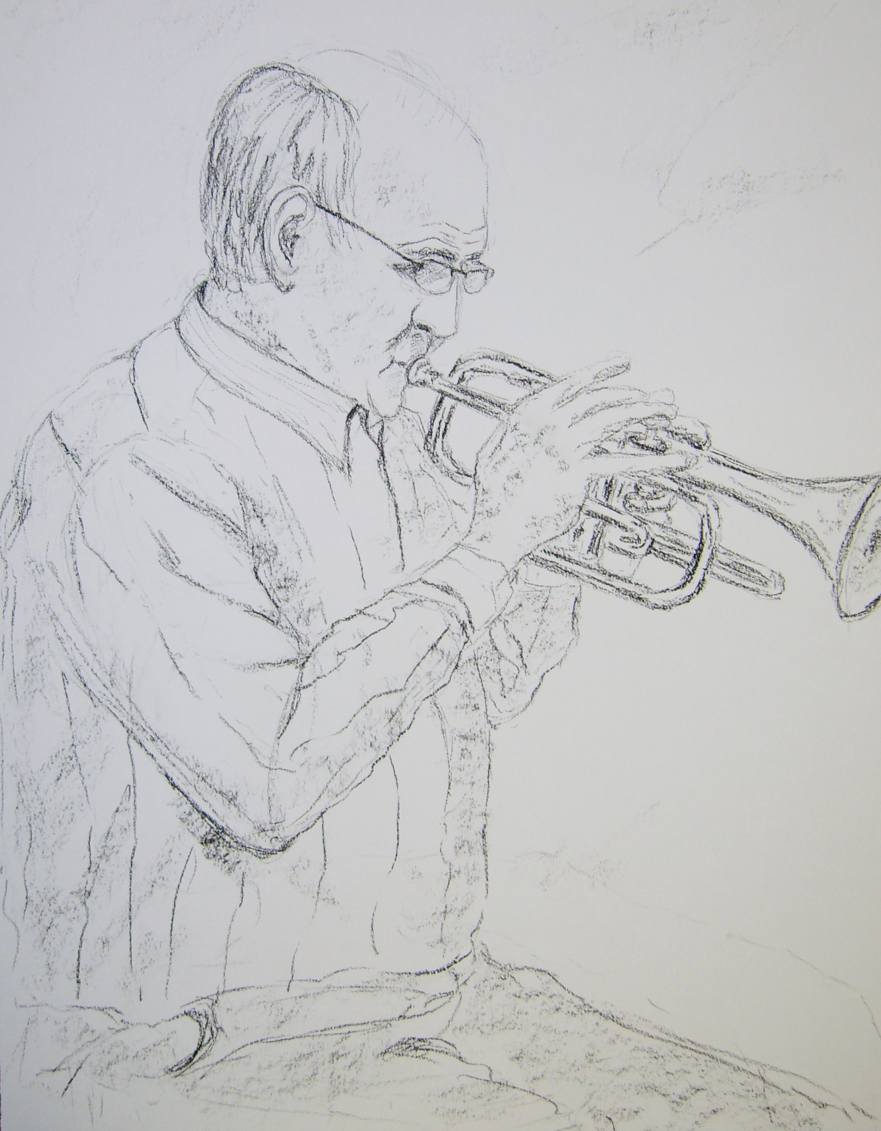 Jan playing the cornet