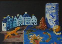 Greetings from Singapore - Still Life, 2003, oil